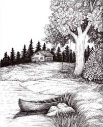 Pen and Ink Landscape 2