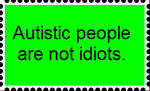 An autism stamp made by an autistic