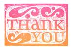 Thank You Card, Linocut