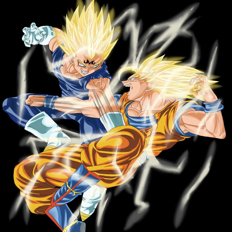 Goku vs vegeta jdog drawing tattoo - Son goku vegeta ...