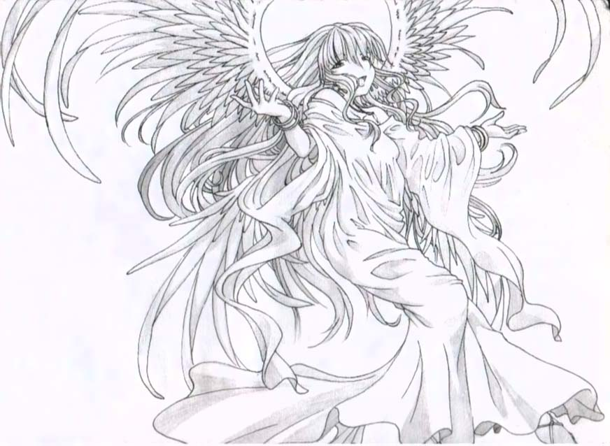 Cool drawings of angels