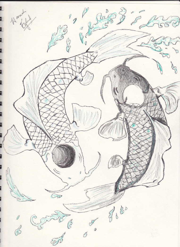 Koi fish yin and yang by infinitemango on deviantart for Koi fish yin yang