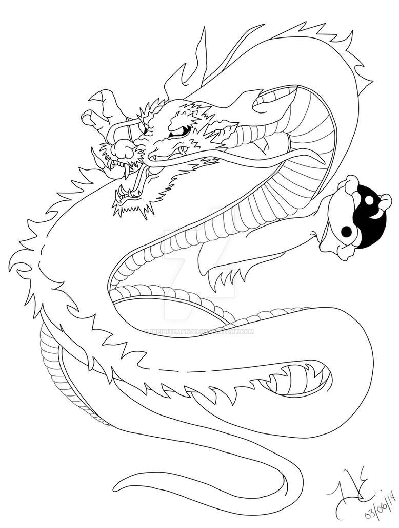 Line Drawing Dragon Tattoo : Japanese dragon tattoo design by infinitemango on deviantart