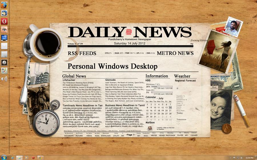 newspaper desktop by abduakareem on deviantart. Black Bedroom Furniture Sets. Home Design Ideas