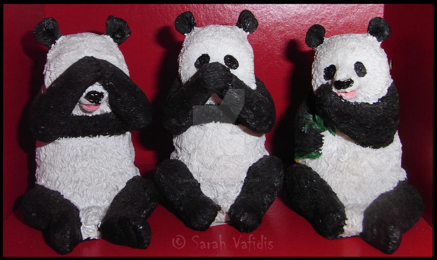 Three Wise Pandas by Sarah-Vafidis
