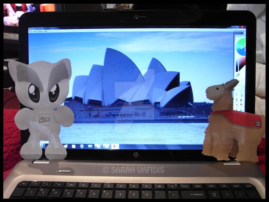 Fella and Super Llama - Sydney by Sarah-Vafidis