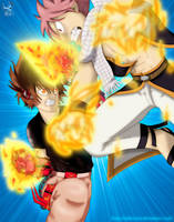 Tsuna vs. Natsu by iPhenixia