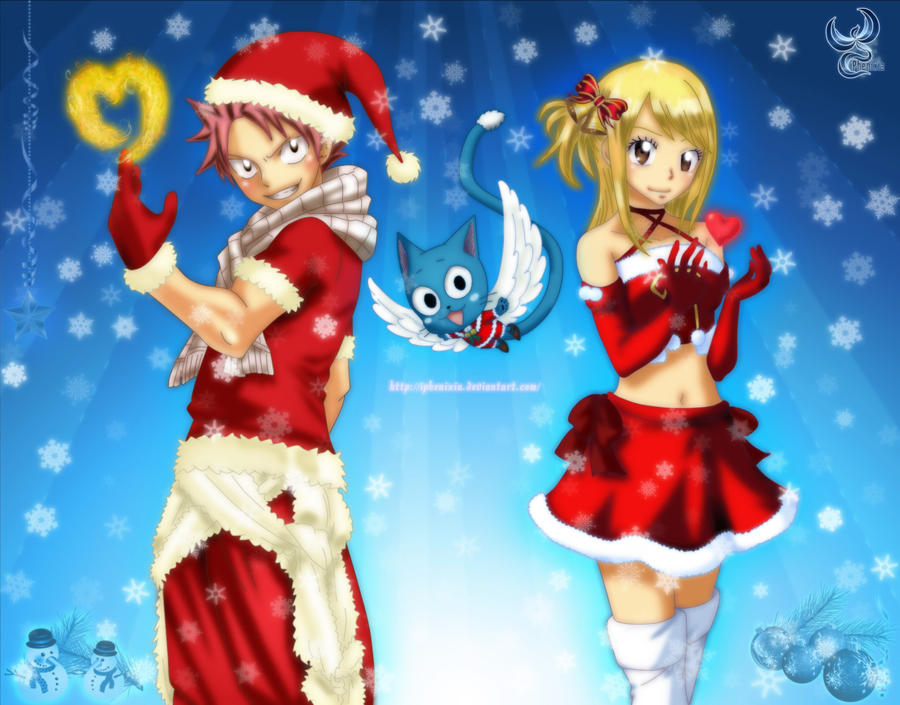 Official Romance Thread - Page 2 Christmas_fairy_tail_by_iphenixia-d5oel22