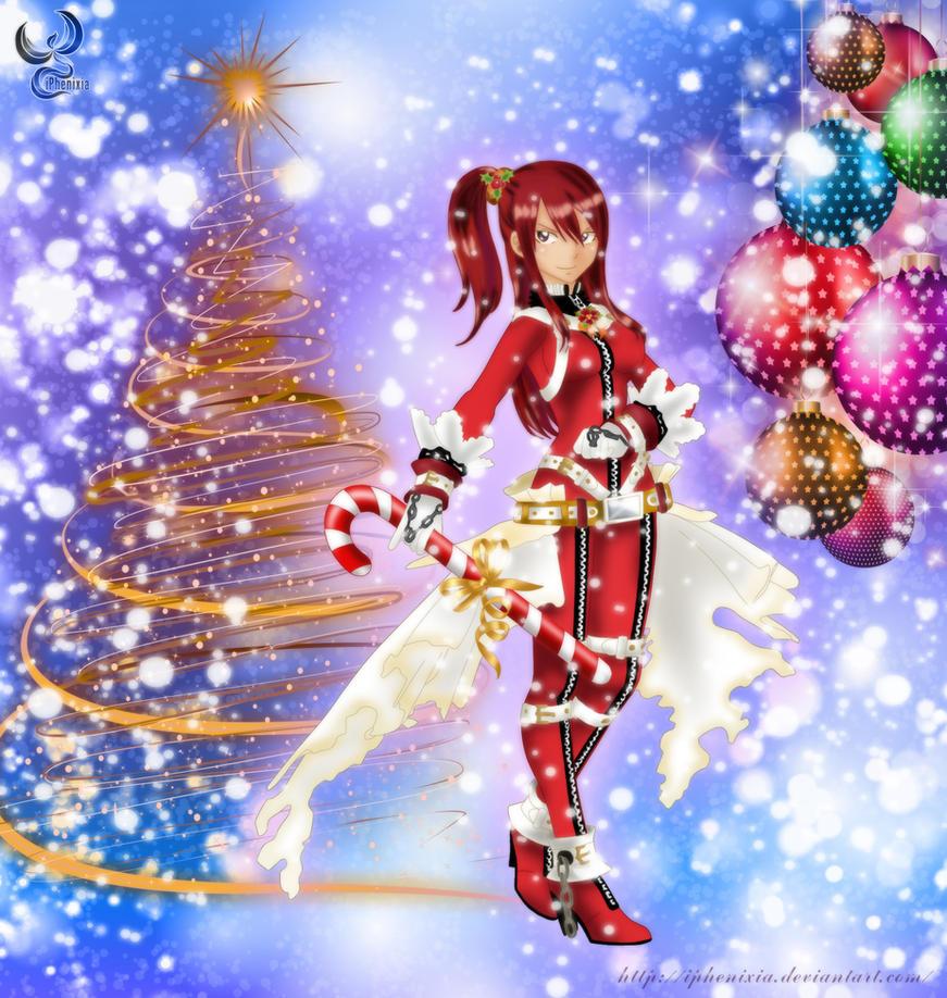 Christmas Erza by iPhenixia on DeviantArt