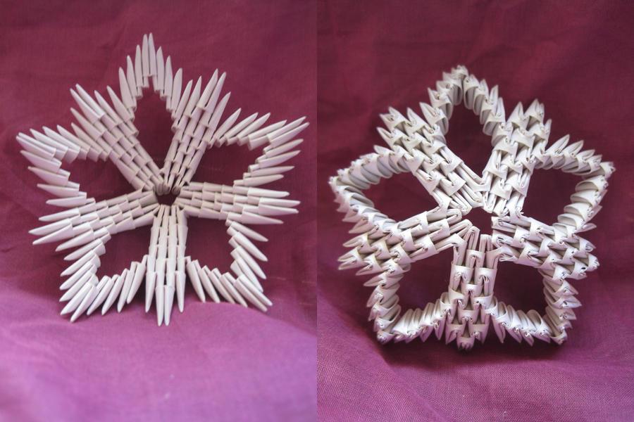 3d origami star by idoux on deviantart for 3d star net