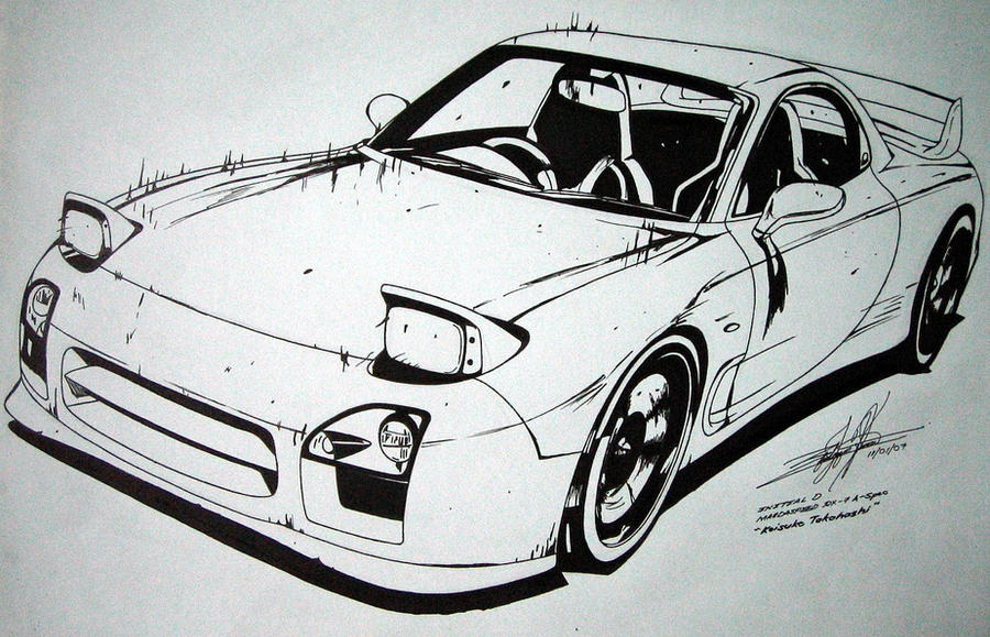 Rx 7 Fd3s Redsuns Initial D By Edgardos On Deviantart