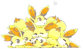 Pile of fennekin by PokemonXandYbrave