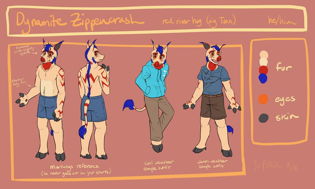 Dynamite Zippencrash Reference Sheet by YuPuffin