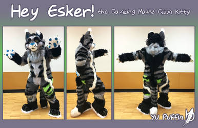 Hey Esker Full Fursuit by YuPuffin