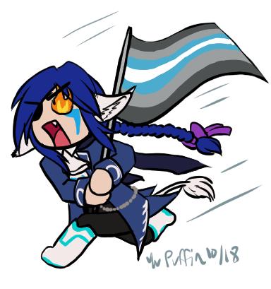 2018-10-10 Demiboy Flag by YuPuffin
