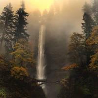 Multnomah Falls, Oregon by xsiorcanna