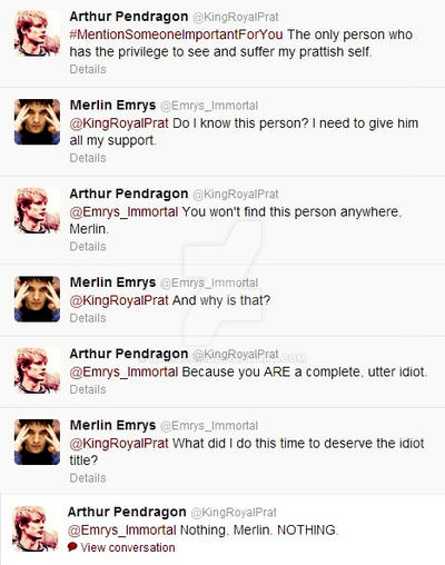 Merlin and Arthur on Twitter by Hamulas
