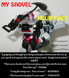 MY SHOVEL, YOUR FACE poster
