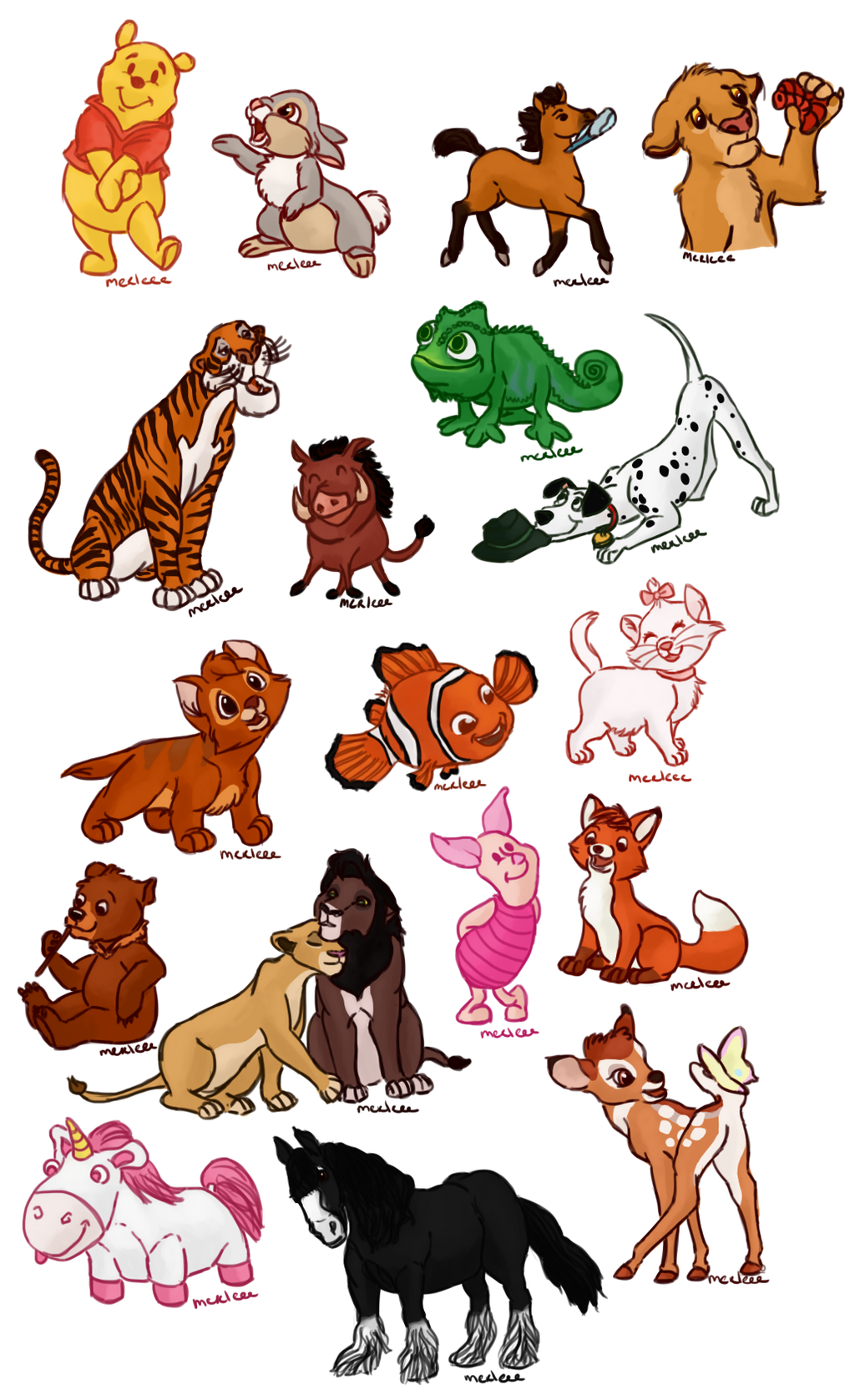 Disney Animals by Merleee on DeviantArt