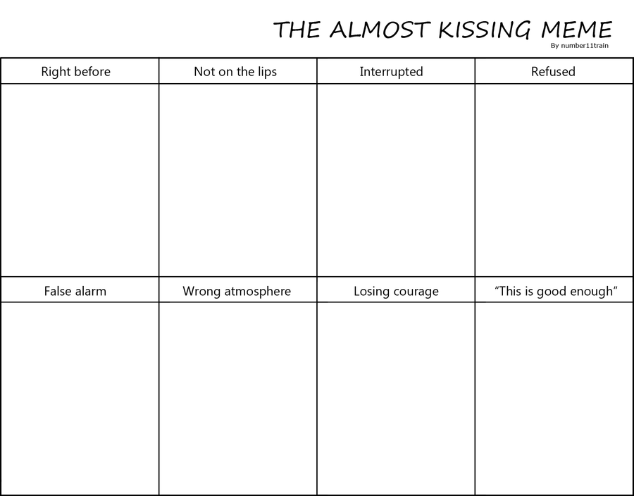 Almost Kissing Meme By Number11train On Deviantart