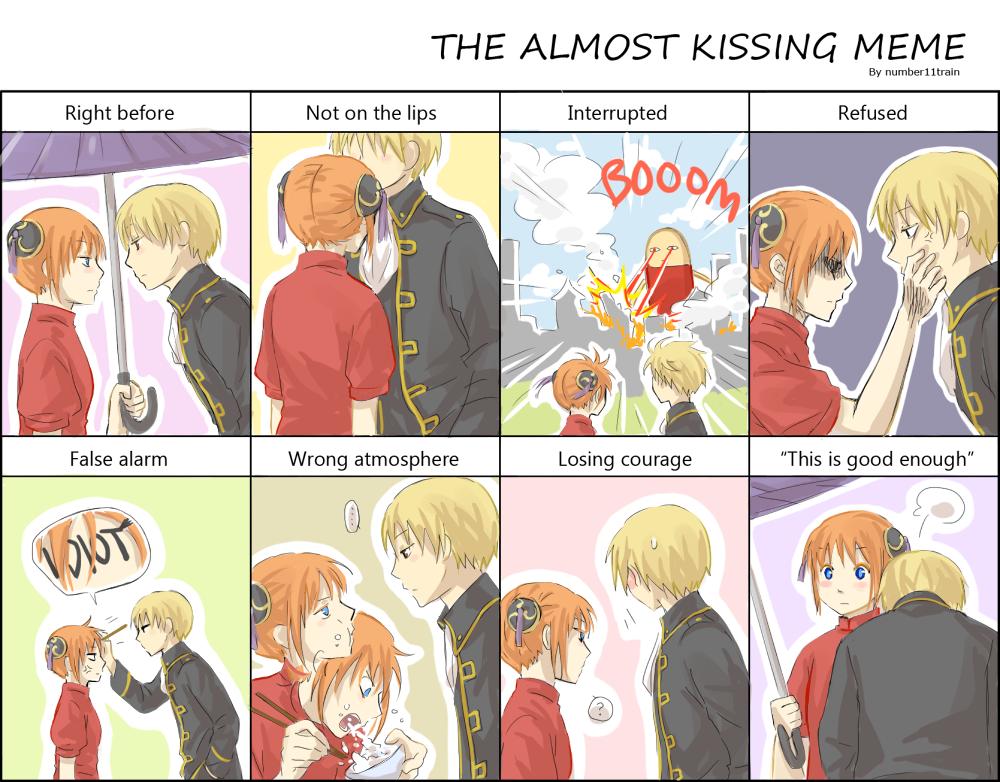 Almost kissing meme - OkiKagu by number11train on DeviantArt
