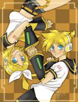 Kagamine Rin and Len by Heathernaut