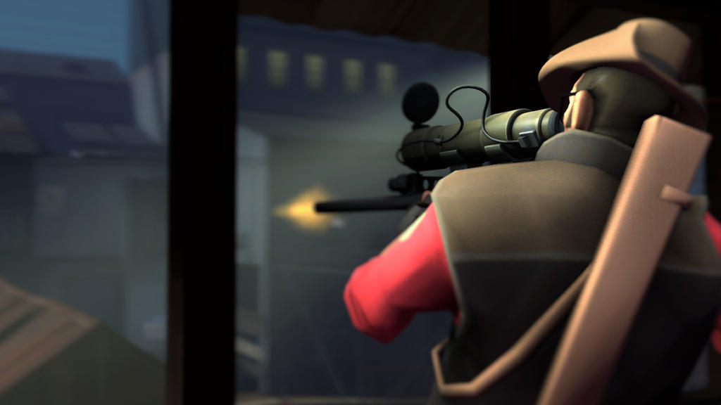 SFM TF2 Sniper Wallpaper By TheFestiveMountain