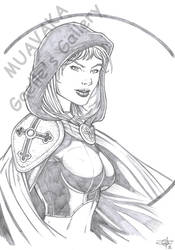 Magdalena Bust Sketch by Carl-Riley-Art