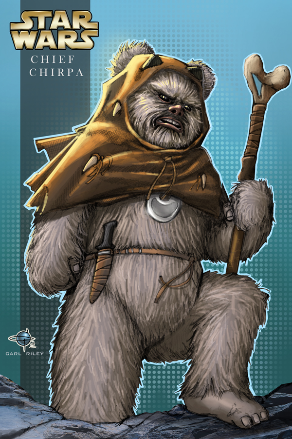 Ewok Chief Chirpa by Carl-Riley-Art