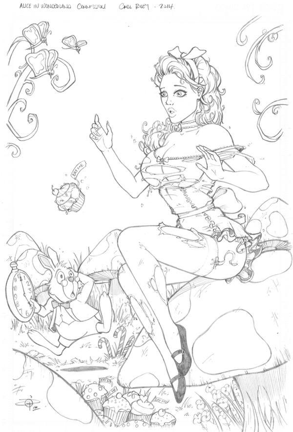 Alice in Wonderland Pencils - Hires by Carl-Riley-Art