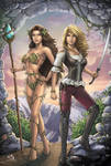 Dryad and Rogue Commission Colours by Carl-Riley-Art