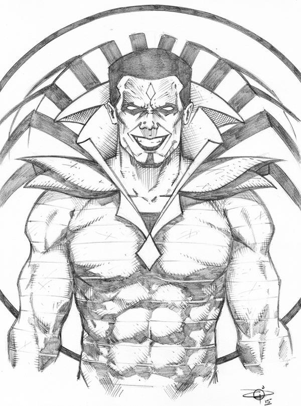 Mr. Sinister Bust Sketch by Carl-Riley-Art
