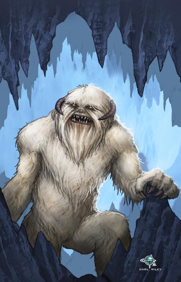Wampa Star Wars Commission by Carl-Riley-Art
