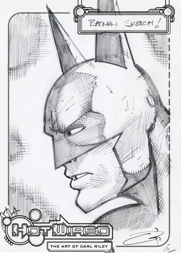 FREE Batman Head Sketch 2015 by Carl-Riley-Art
