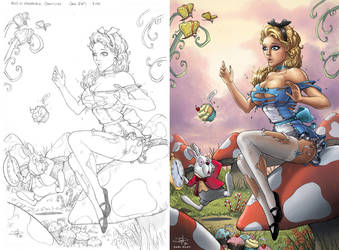 Alice in Wonderland - side by side
