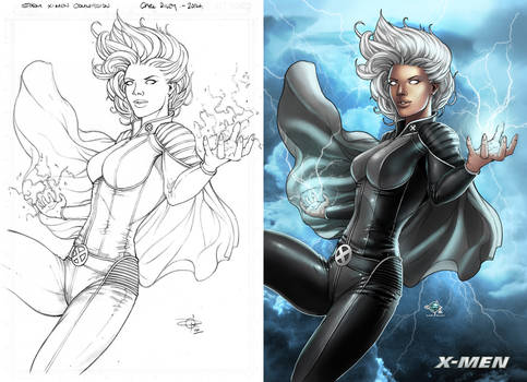 Storm Xmen side by side