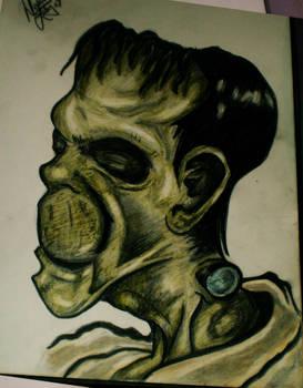 Frankenstein Pencil Sketch