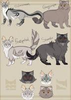 Gray n Silver Family by Saakumi