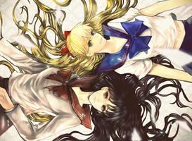 REI and MINAKO by asml30