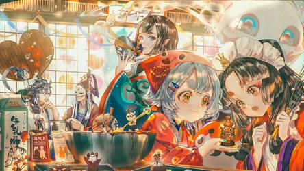 Valentine's Day of Onmyoji by asml30