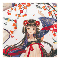 chinese scroll girl