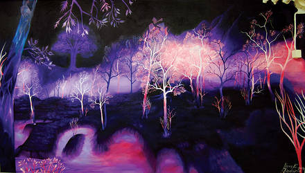 Crystalsong Forest wallpainting