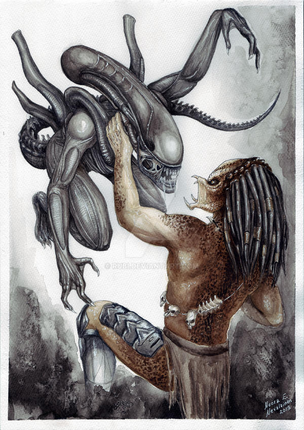 aliens vs predator drawings - photo #25