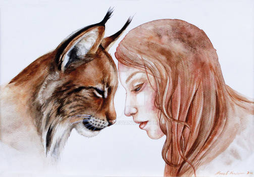 Lynx and a girl