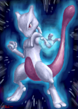 Mewtwo uses PSYCHIC by Rubi