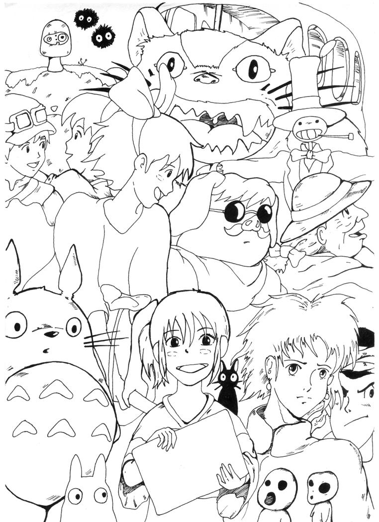 Hayao miyazaki coloring pages coloring pages - Coloriage ponyo ...