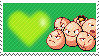 102 - Exeggcute by Marlenesstamps