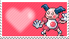 122 - Mr.Mime by Marlenesstamps