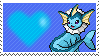 134 - Vaporeon by Marlenesstamps