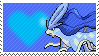 Shiny Suicune by Marlenesstamps